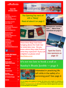 Front page TBCC eBulletin 101 2Oct14