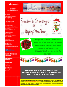 Front page TBCC eBulletin 107 22Dec14