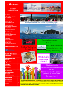 Front page TBCC eBulletin 110 12Feb15