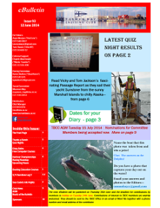 Front page TBCC eBulletin 93 12June14