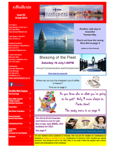 Front page TBCC eBulletin 95 10July14