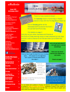 TBCC eBulletin 103 30Oct14