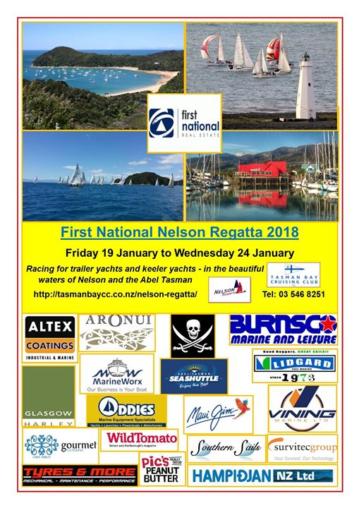 The First National Nelson Regatta is now only three months away, and preparations well underway.  The good weather has already been booked - something that failed us last season!