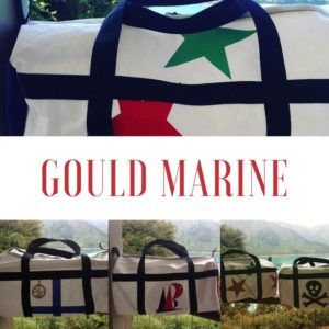 Treat yourself - you deserve a new gear bag - you choose your design - made from recycled sails - pirates, stars or yacht club insignias